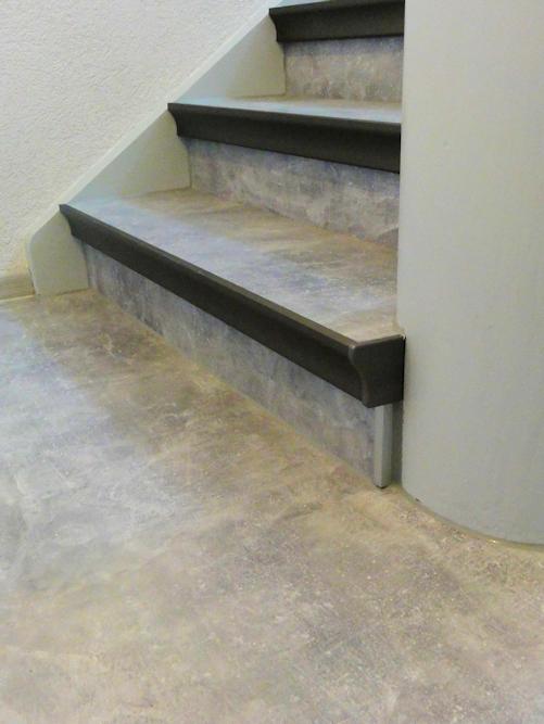 Renovierte Stufen im Detail